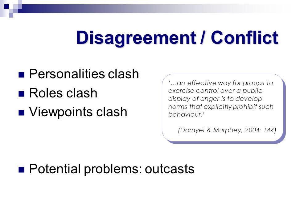 Disagreement / Conflict