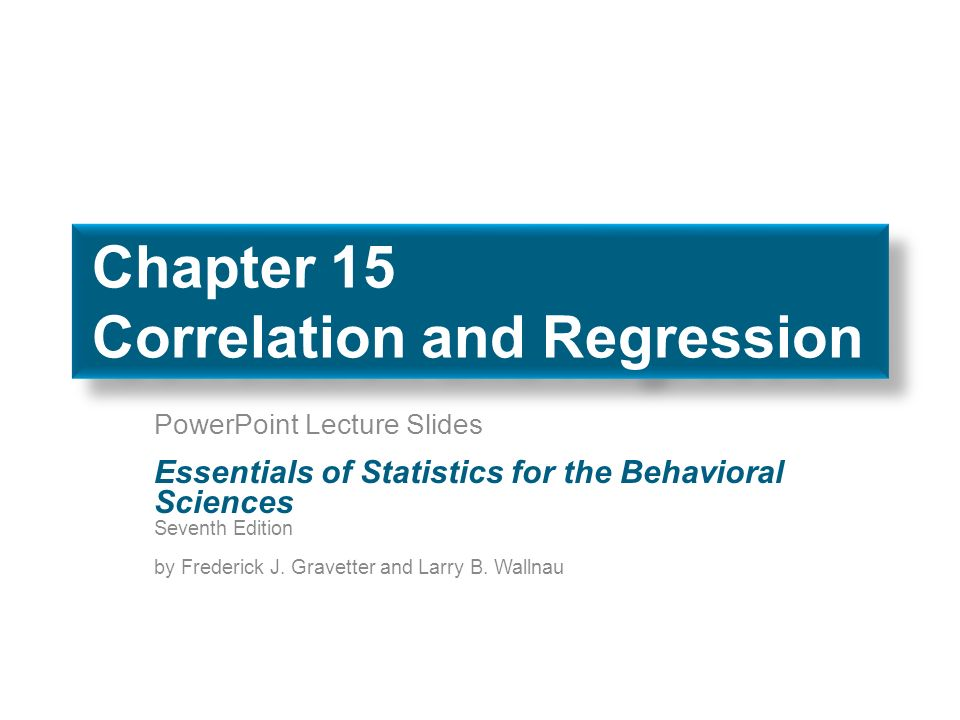 chapter 1 regression and correlation Regression & correlation - chapter summary and learning objectives instructors in this chapter can introduce you to some of the methods used to create visual.