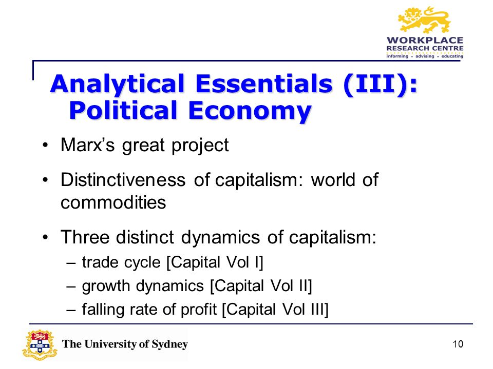 Analytical Essentials (III): Political Economy