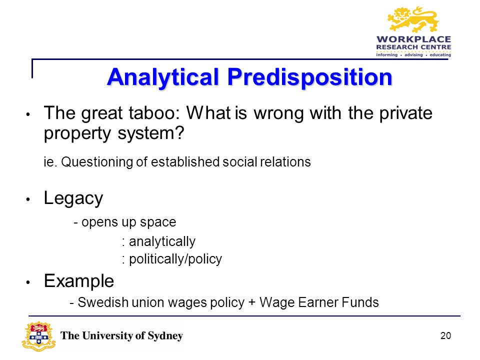 Analytical Predisposition
