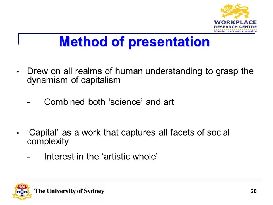Method of presentation