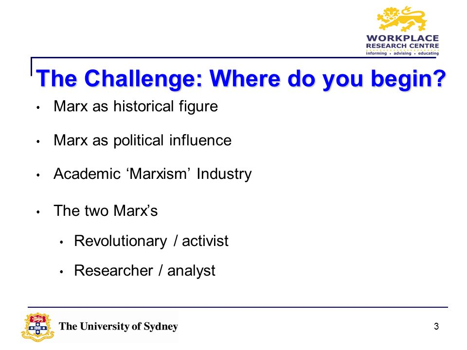 The Challenge: Where do you begin