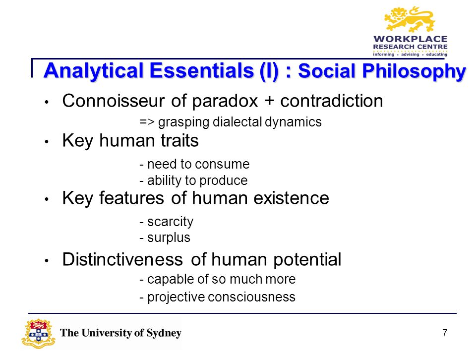 Analytical Essentials (I) : Social Philosophy