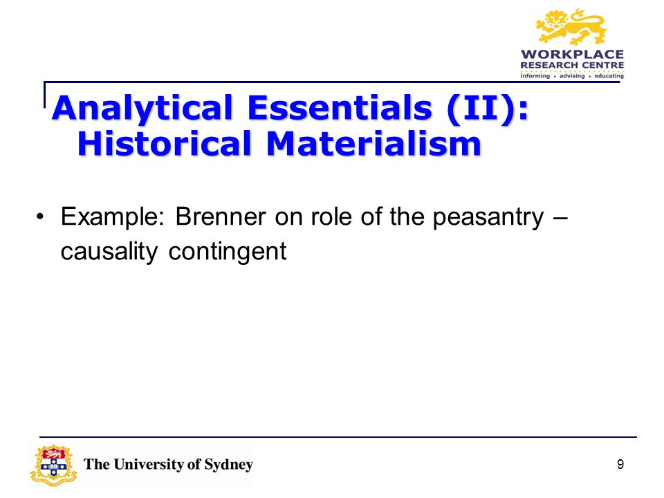 Analytical Essentials (II): Historical Materialism