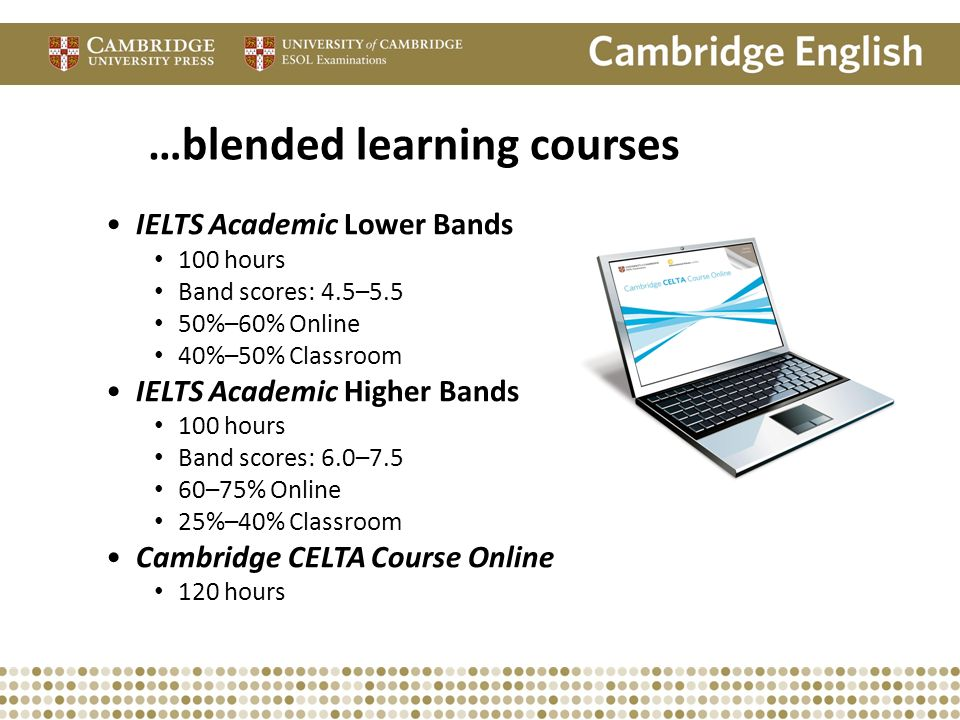 …blended learning courses