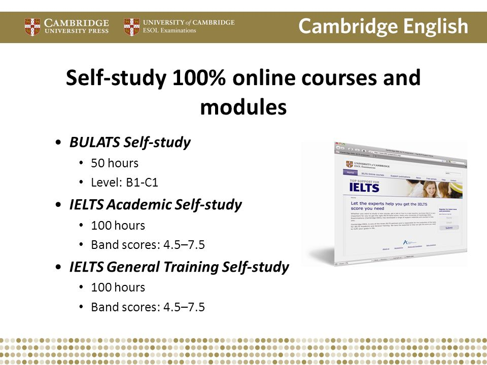 Self-study 100% online courses and modules