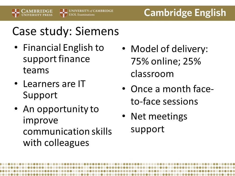 Case study: Siemens Financial English to support finance teams
