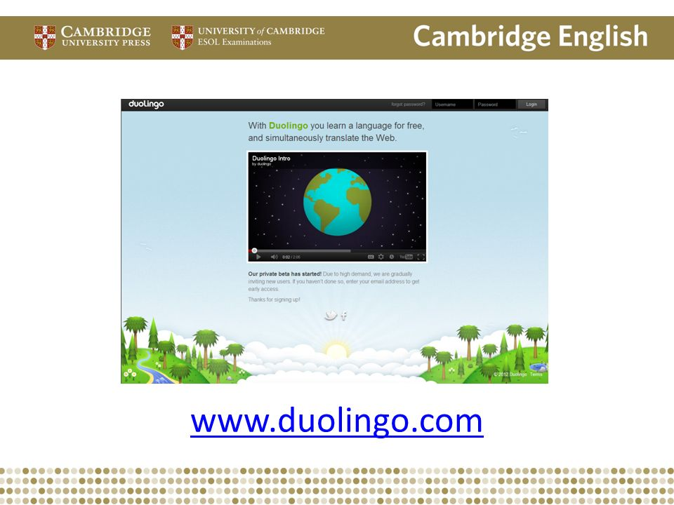 Is Duo Lingo. Com. Has anyone looked at this site yet
