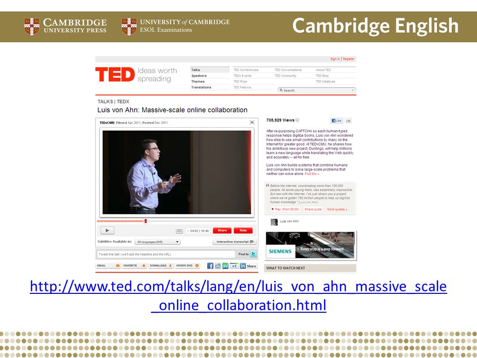 And if you want to know more about the research and background to duolingo, then view Louis Von Ann's talk at ted.com.