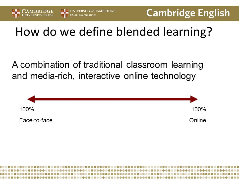 Will it blend? Integrating face-to-face and online ...