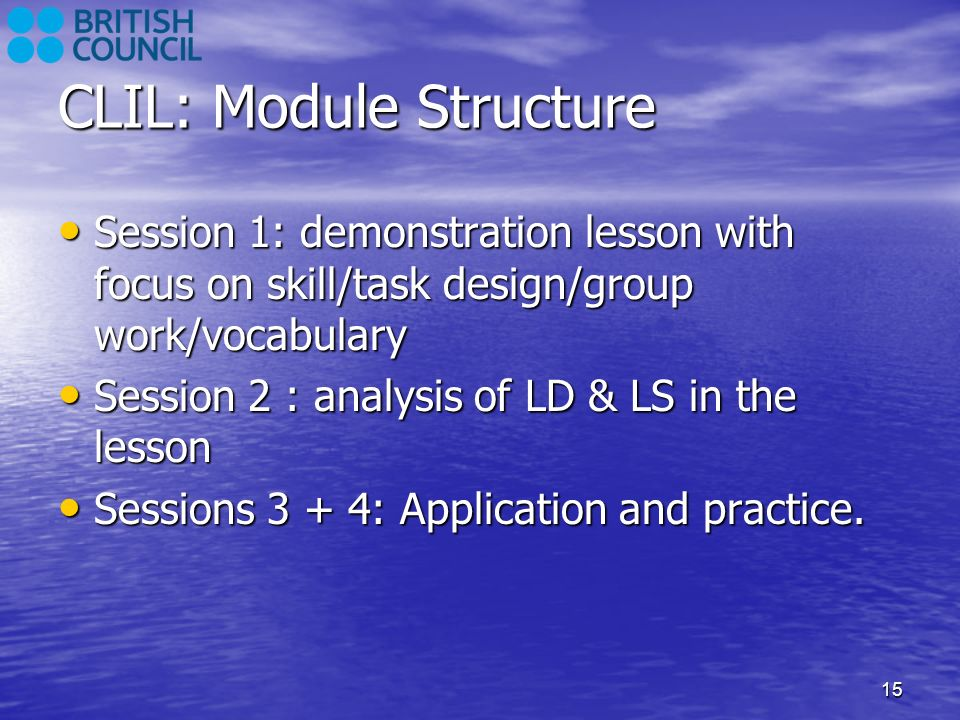 CLIL: Module Structure