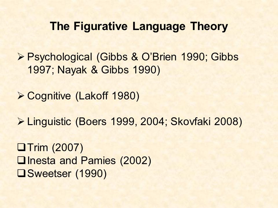 The Figurative Language Theory