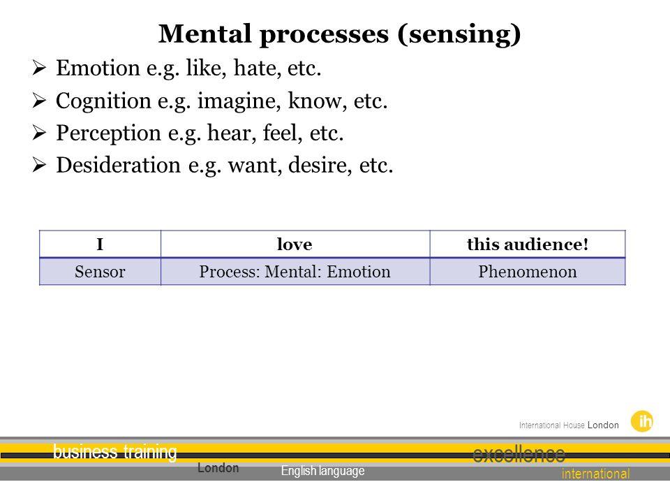 Mental processes (sensing)