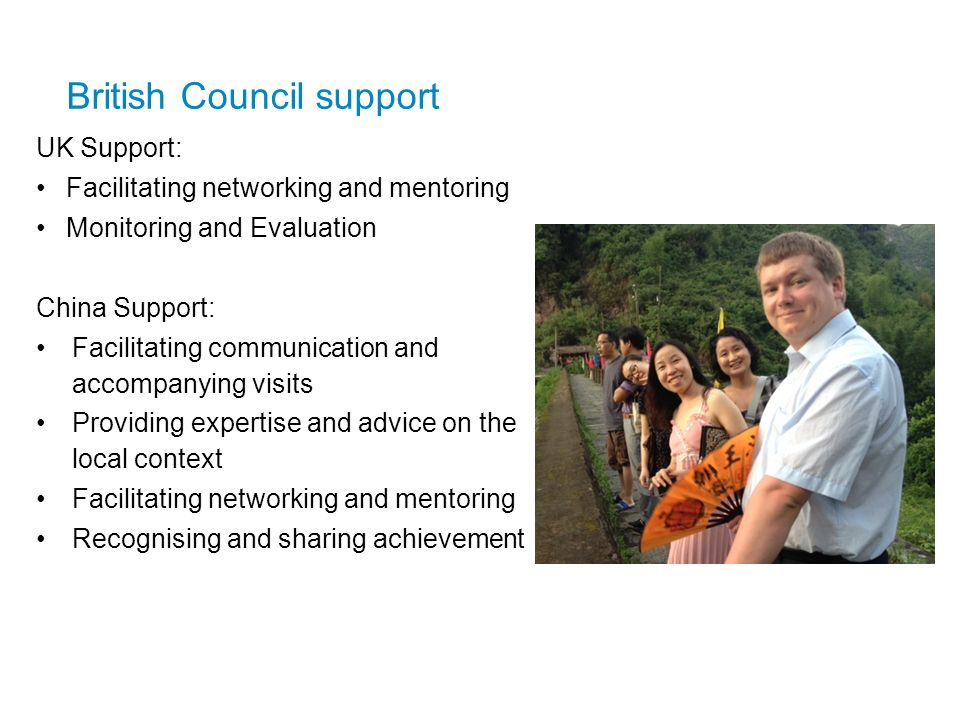 British Council support