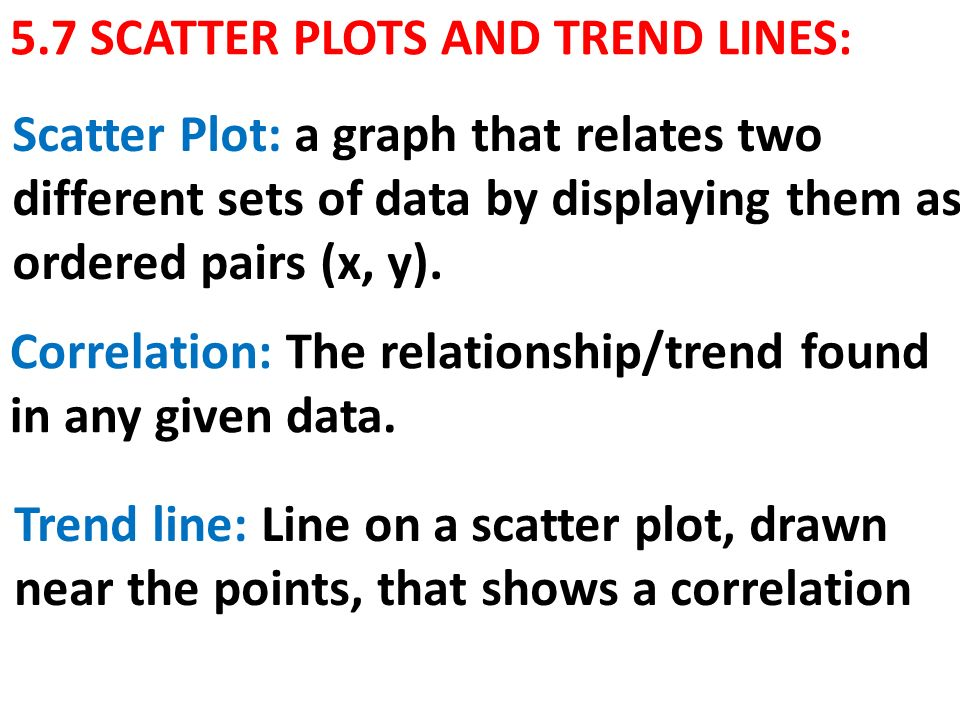 57 Scatter Plots And Trend Lines Ppt Video Online Download