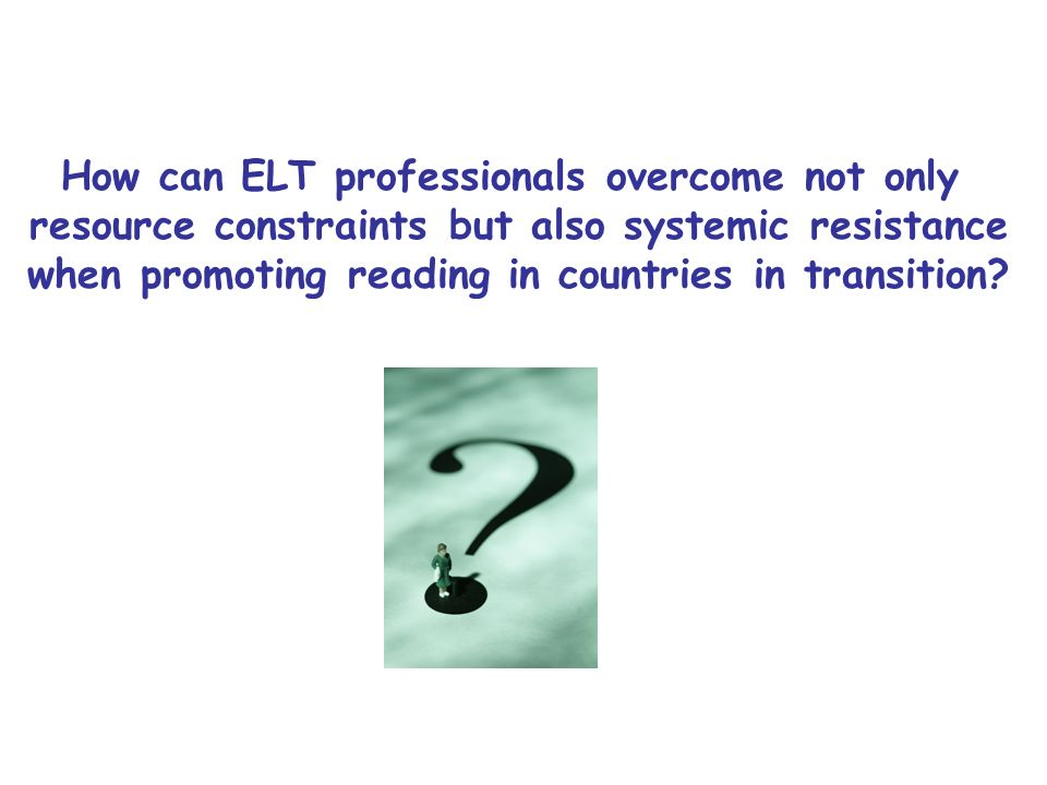 How can ELT professionals overcome not only