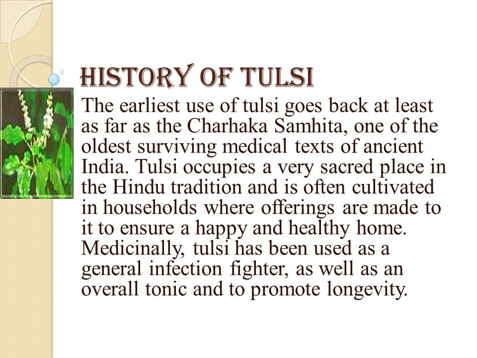 History of Tulsi