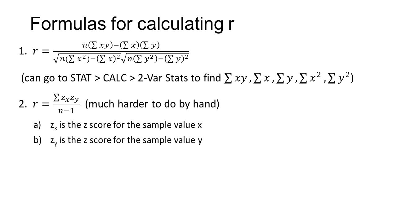 Correlation Coefficient Calculator R Formulas For Calculating R How To Calculate  Gpa Lau