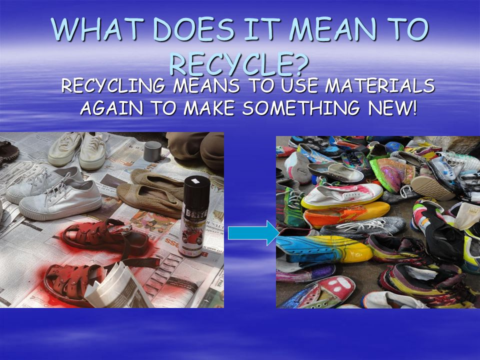 WHAT DOES IT MEAN TO RECYCLE