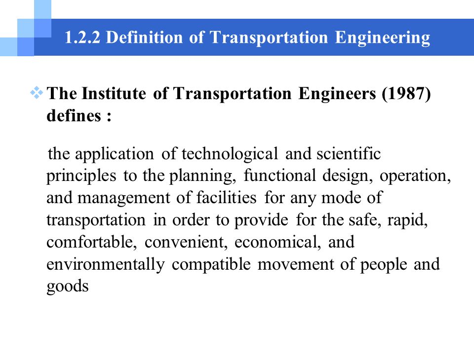 Introduction to thansportation engineering ppt download 122 definition of transportation engineering fandeluxe Gallery