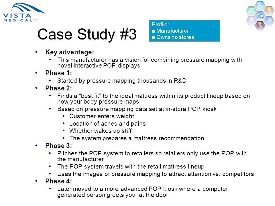 Case Study #3 Key advantage: Phase 1: Phase 2: Phase 3: Phase 4: