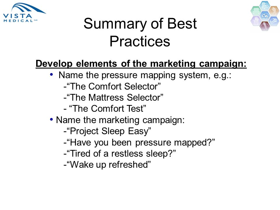 Summary of Best Practices