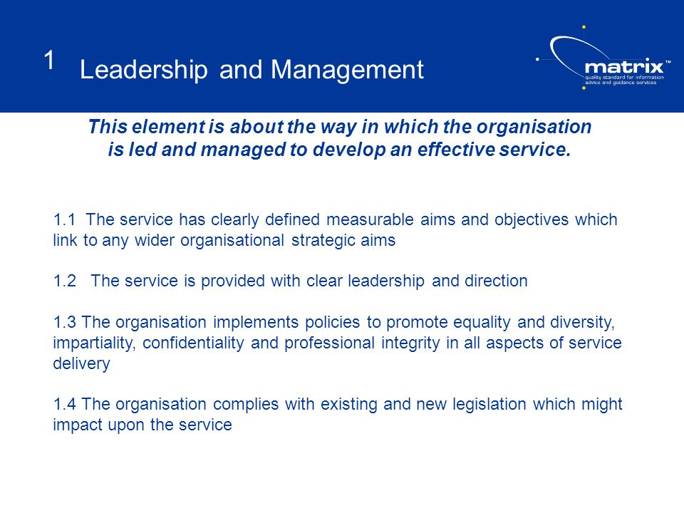 Leadership and Management 1