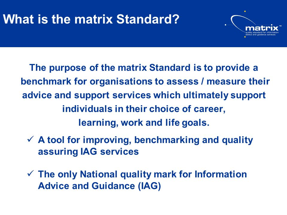 What is the matrix Standard