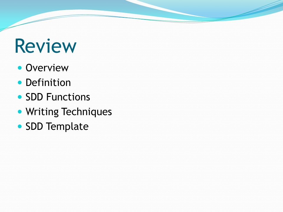 Software design document sdd ppt video online download for Sdd template ieee
