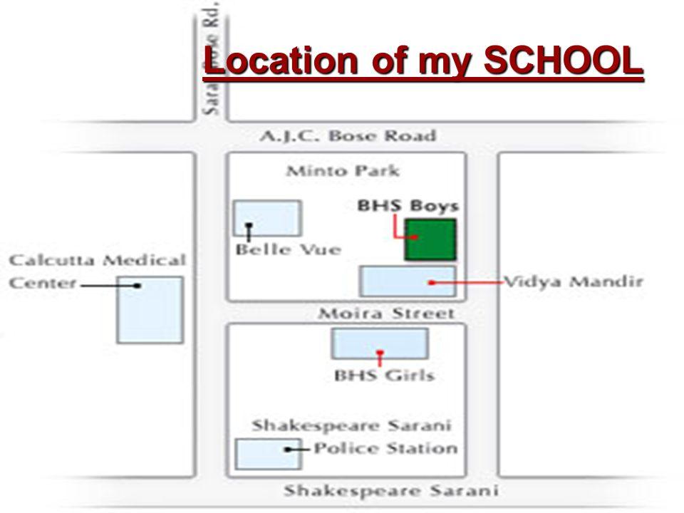 Location of my SCHOOL
