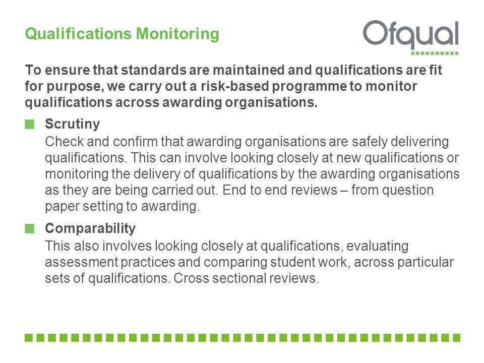 Qualifications Monitoring