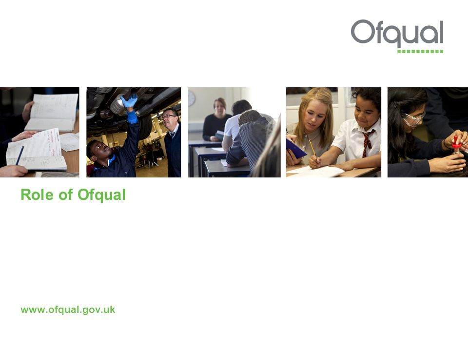 Role of Ofqual www.ofqual.gov.uk