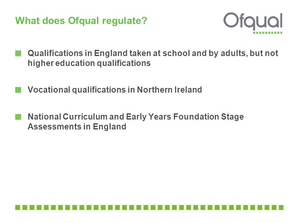 What does Ofqual regulate