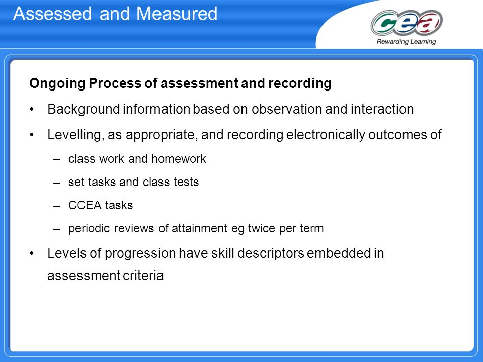 Curriculum and assessment in northern ireland ppt video online 12 assessed urtaz Image collections