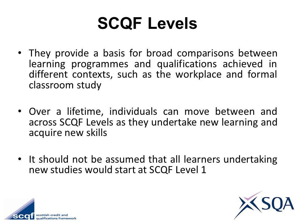 SCQF Levels