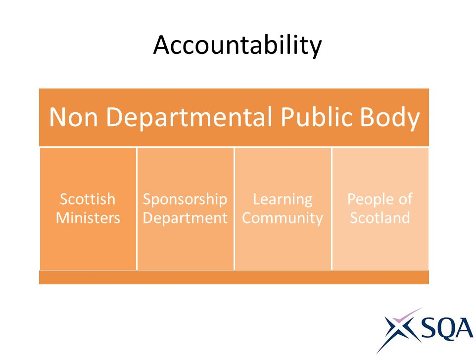 Accountability Non Departmental Public Body Scottish Ministers