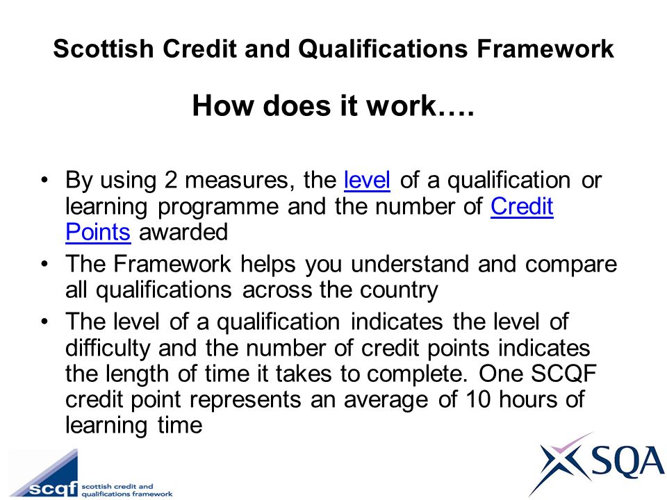 Scottish Credit and Qualifications Framework
