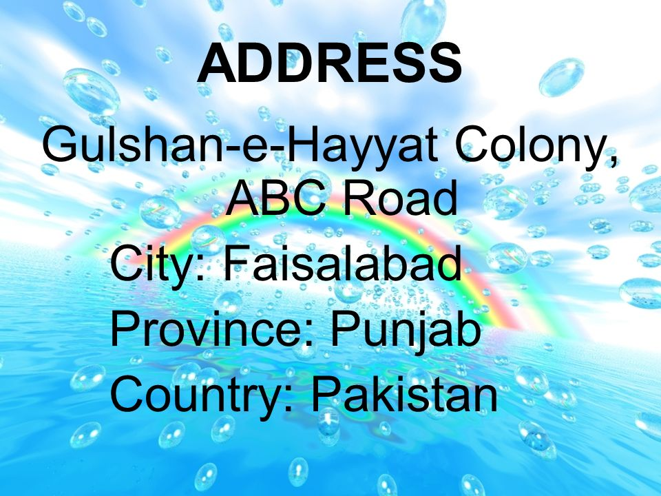 Gulshan-e-Hayyat Colony, ABC Road