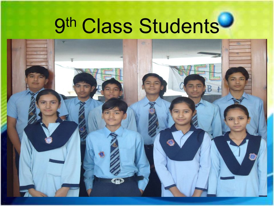 9th Class Students
