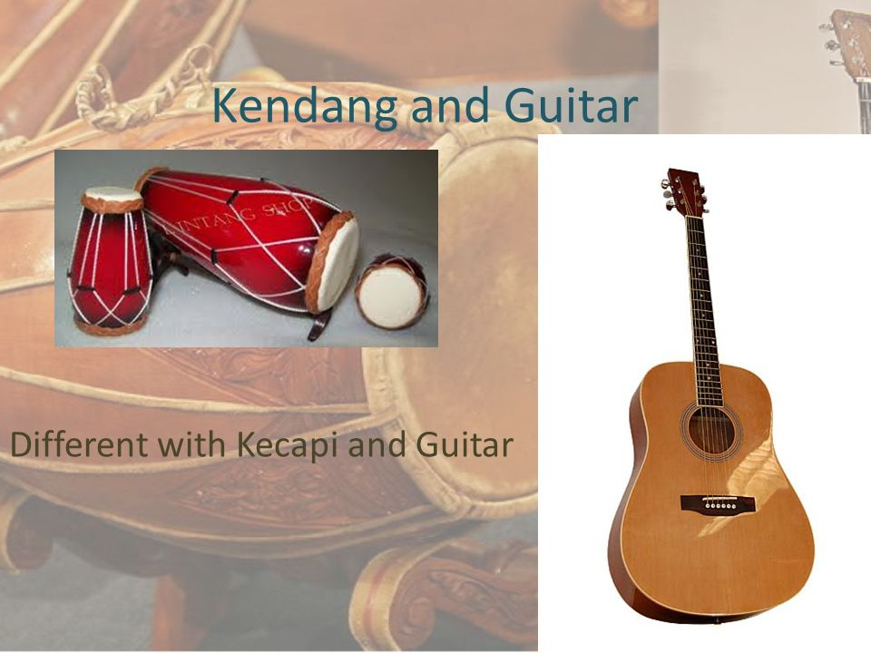 Different with Kecapi and Guitar