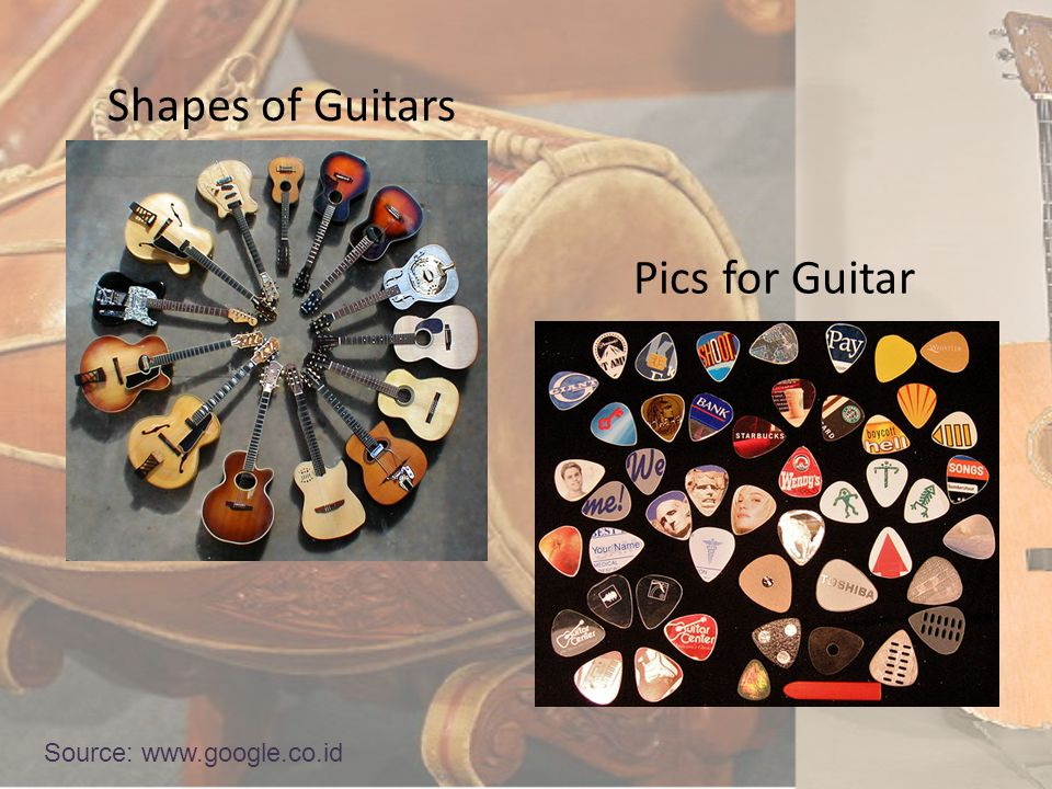 Shapes of Guitars Pics for Guitar Source: