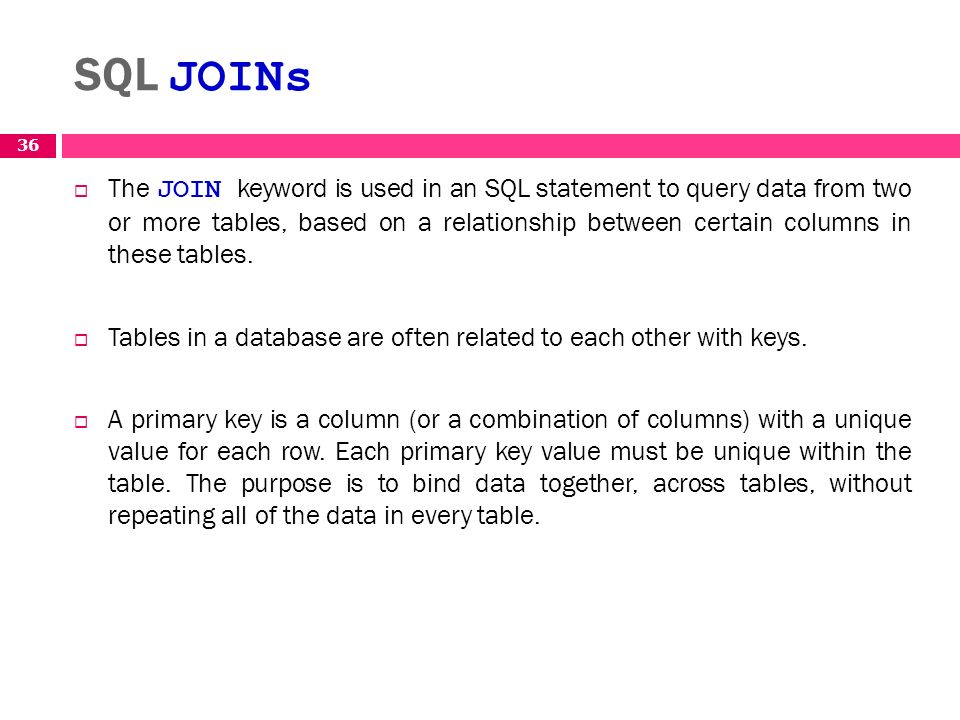 Structured query language sql ppt download - Sql join tables from different databases ...