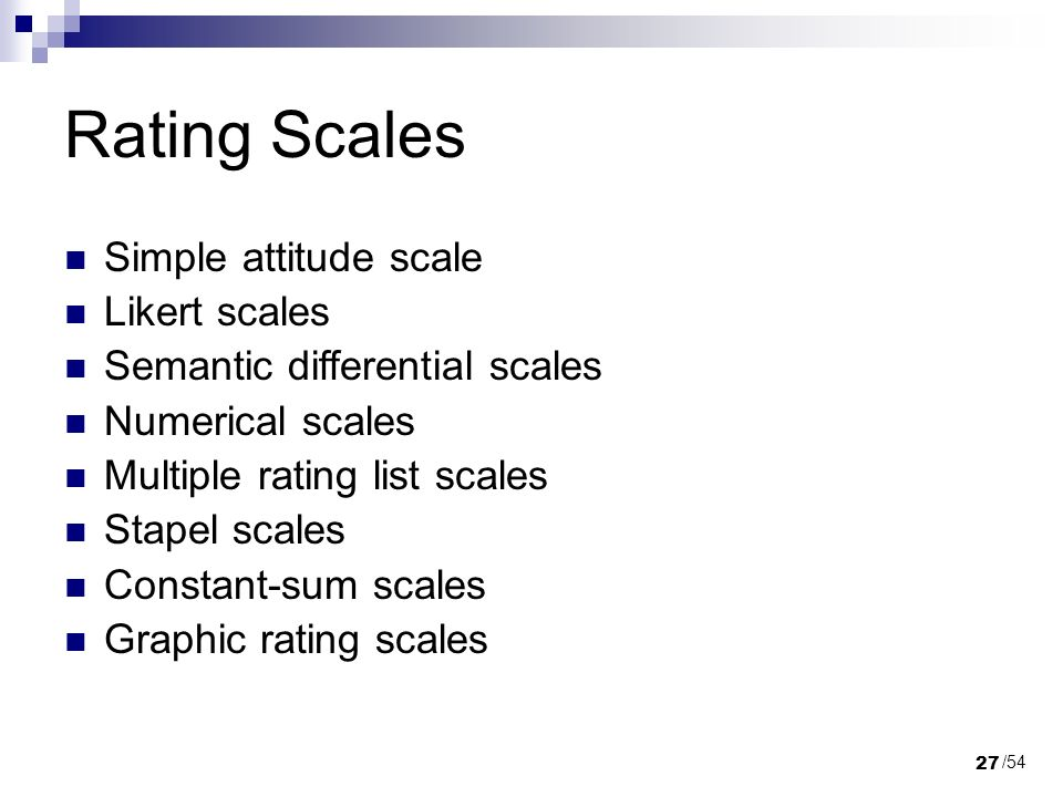 numerical scales vs semantic differential scales Likert vs semantic differential questions in customer satisfaction surveys  what we love about the semantic scale is the absence of any prejudgement about the .