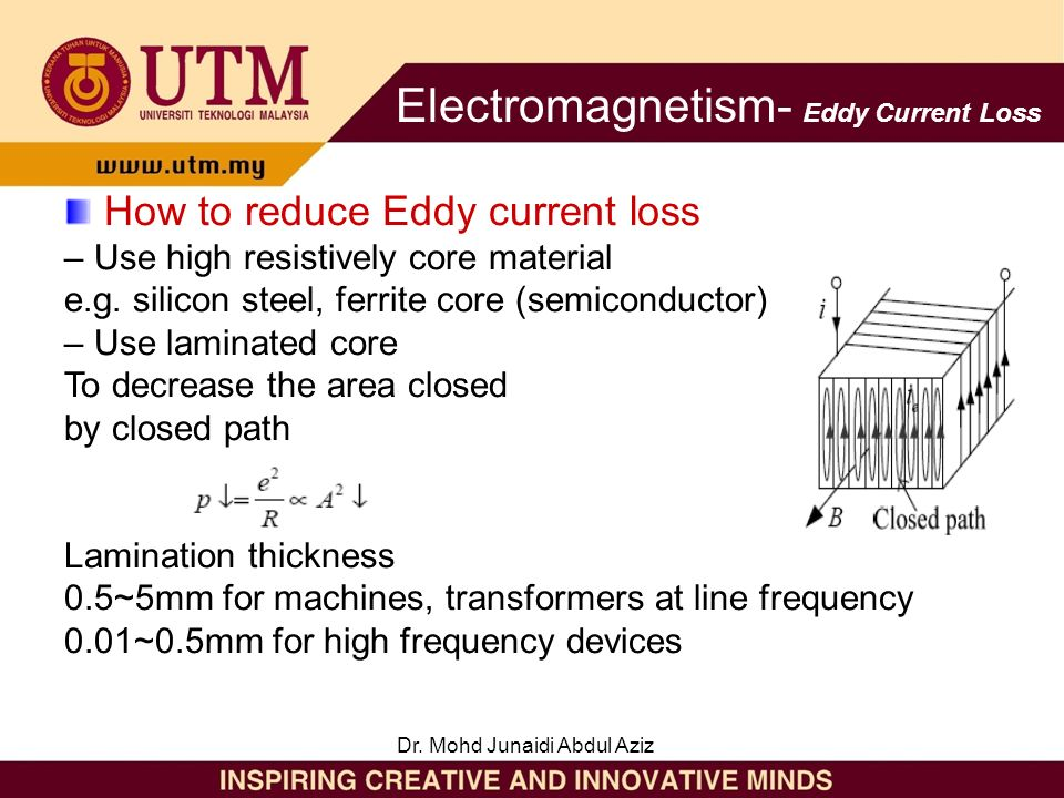 eddy current loss in transformer pdf