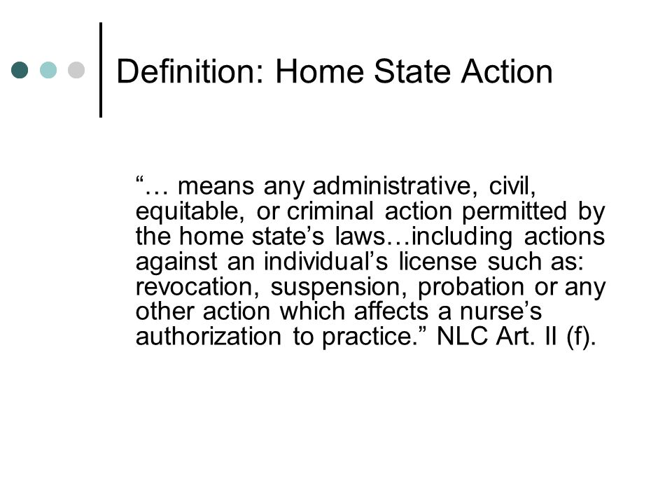 Definition: Home State Action