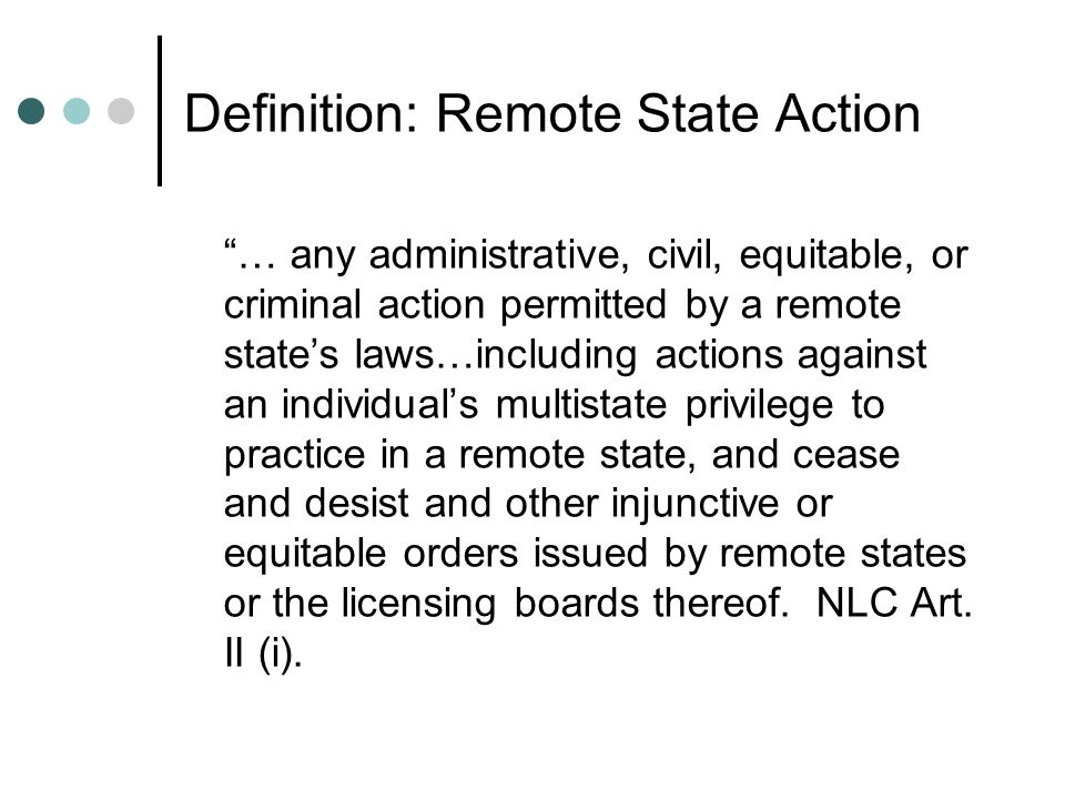 Definition: Remote State Action