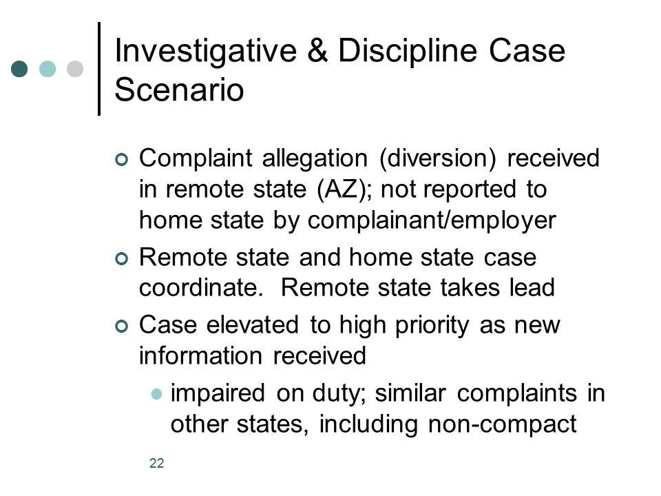 Investigative & Discipline Case Scenario