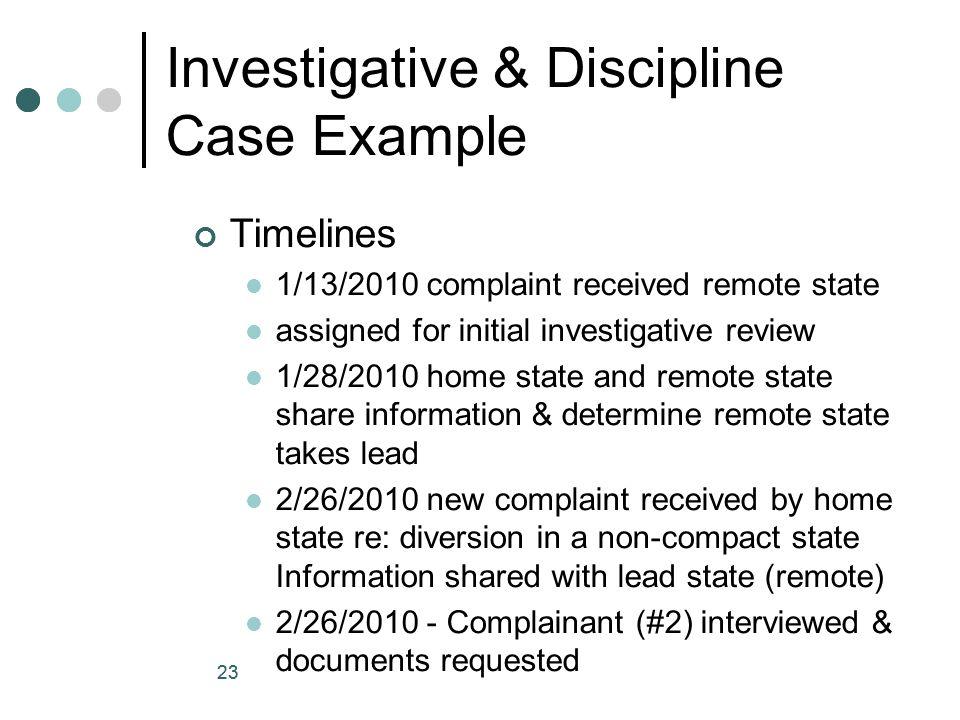 Investigative & Discipline Case Example