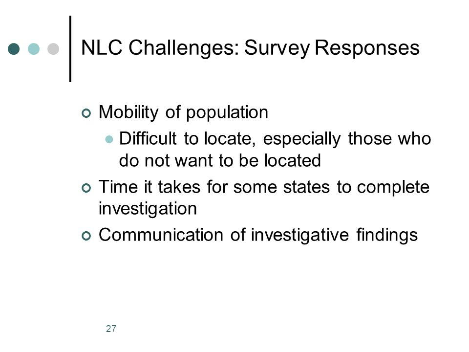 NLC Challenges: Survey Responses