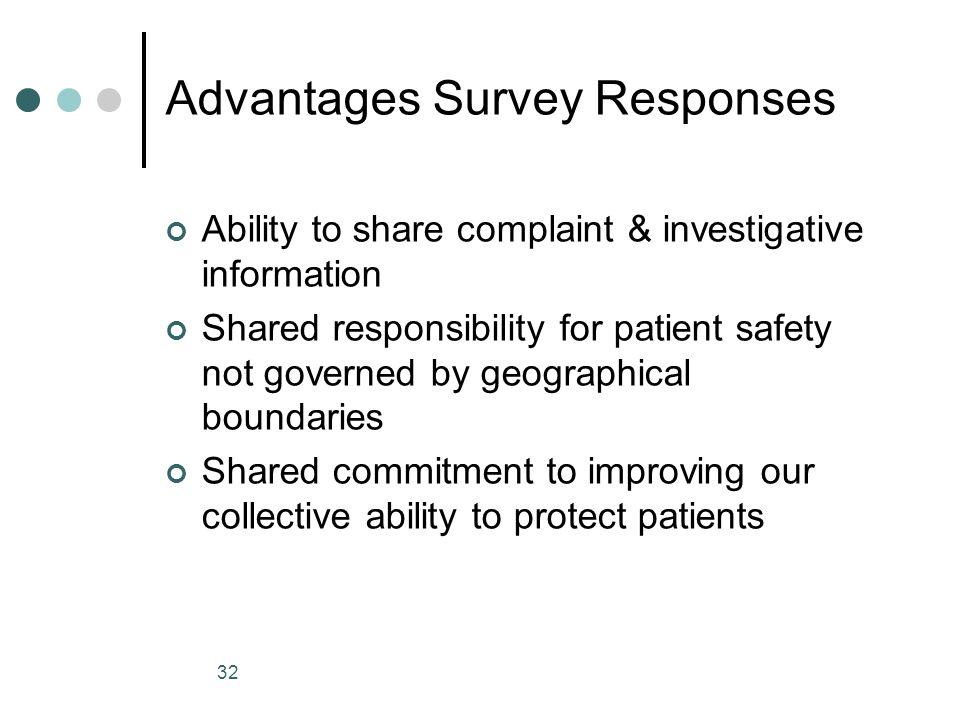 Advantages Survey Responses